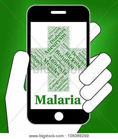 Malaria Disease Indicates Disorders Malady And Infirmity