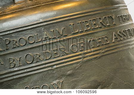 Liberty Bell Close Up
