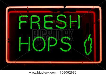 Fresh Hops Sign