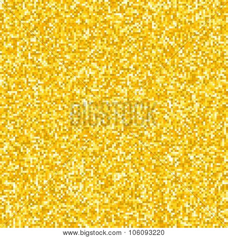 Pixel Gold Glitter Background Eps8 Vector