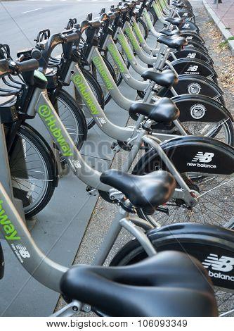 Boston, Massachusetts Hubway Bike Rental Station