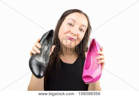 Doubt Is Black Or Pink Shoes