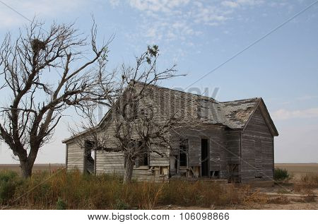 Abandoned House on Western Plains