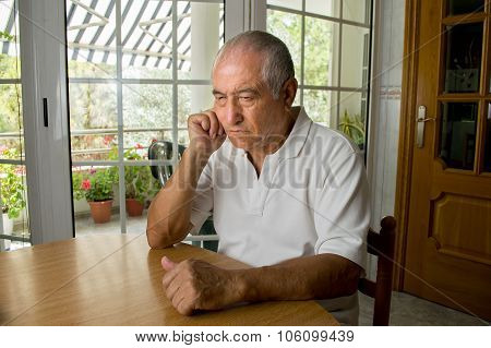 Senior Man Ost In Thought