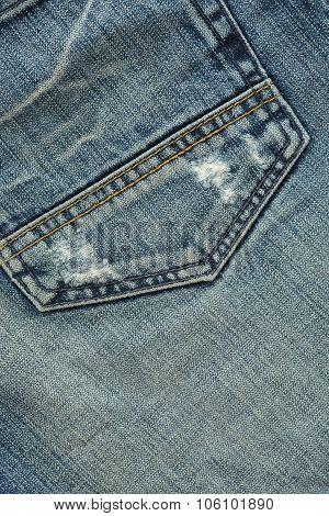 denim design of fashion jeans textile background poster