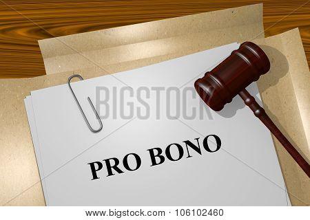 Pro Bono Concept