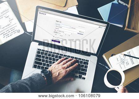 Bangkok, Thailand - October 26, 2015: Yahoo Website Homepage Internet Register