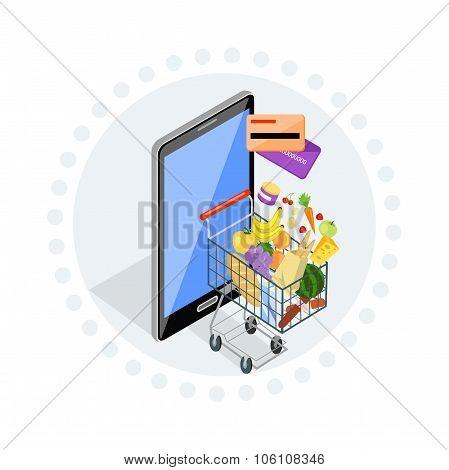 Concept of Shopping Internet Shop
