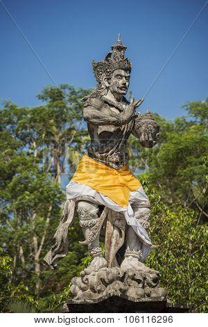 Ancient sculpture in Tirta Empul temple Bali ,Indonesia.