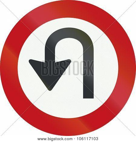 A Dutch Prohibition Sign - No U-turns