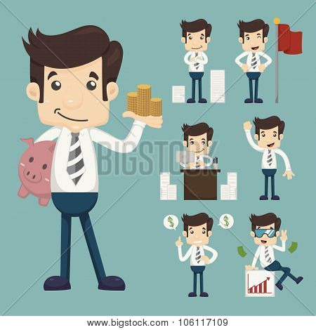 Set Of Office Worker  , Eps10 Vector Format