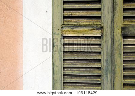 Window  Varese Palaces Italy Abstract    In The Concrete  Brick