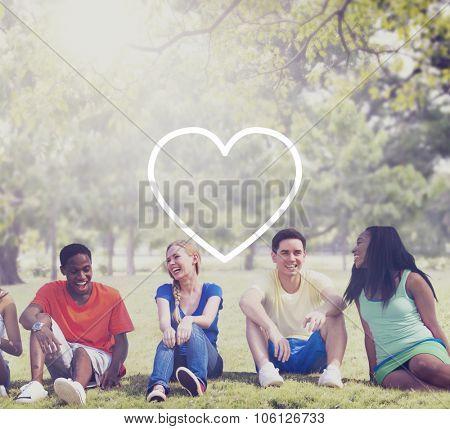 Love Like Passion Romantic Affection Devotion Joy Life Concept poster