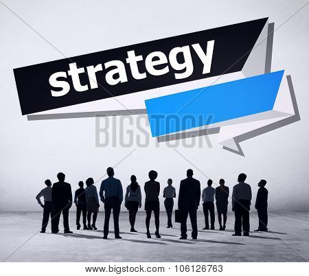 Strategy Planning Solution Tactics Vision Direction Concept poster