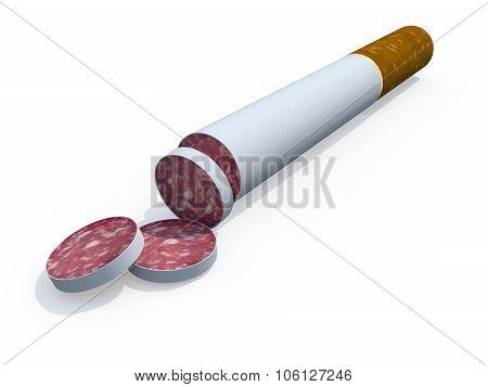 Cigarette Sliced Like Salami