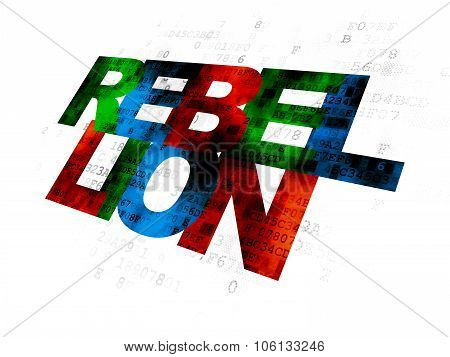 Politics concept: Rebellion on Digital background
