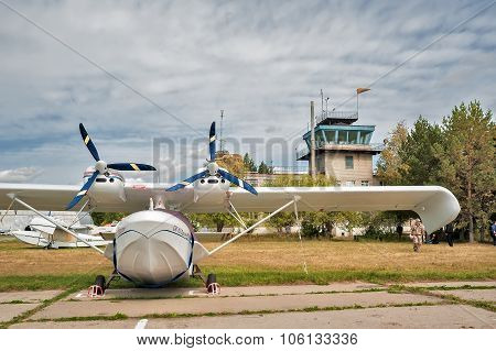 Orion SK-12 small airplane in little airport