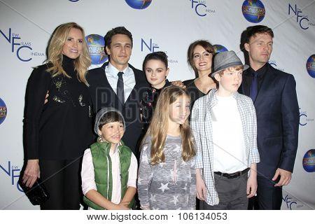 LOS ANGELES - OCT 24:  Janet Jones, James Franco, Joey King, cast at the