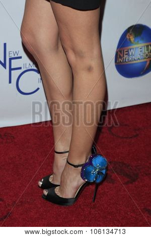 LOS ANGELES - OCT 24:  Jena Sims (shoe detail) at the