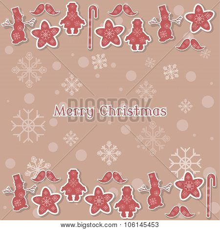 Merry Christmas Vintage Card Background