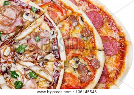 Combo With Three Different Slices Of Pizzas
