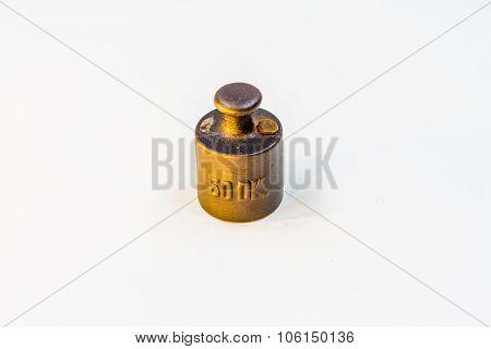 Vintage Half Kilogram Golden Calibration Weight