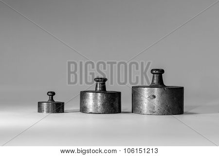 Collection Of Small Vintage Calibration Weights