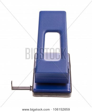 Blue office hole puncher.