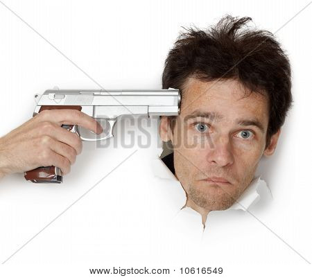 Man Threatened With Gun