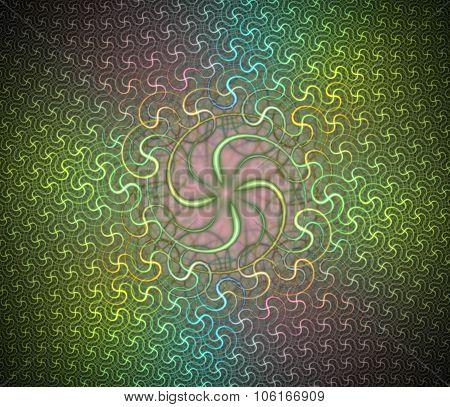 Spiral dance. Fractal smooth background