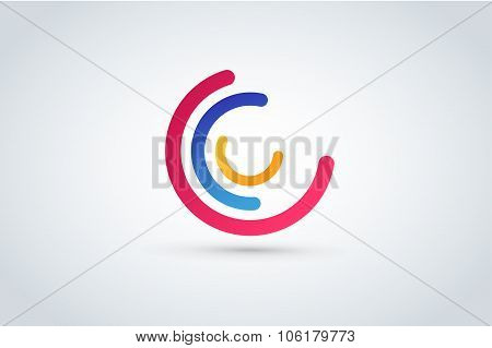 C letter vector icon template