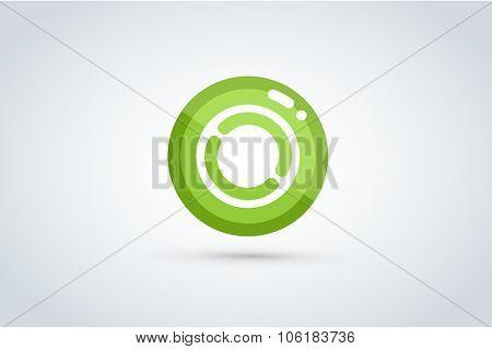 Technology circle logo. Orbit rings. Vector circle. Circle logo design. Abstract circle shape. Round rings. Ring circle symbol. Thin line circle logo. Company circle logo. Together circle logo
