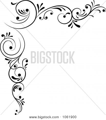element for design corner flower vector illustration poster
