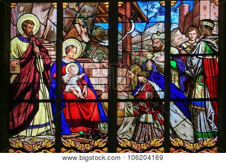 Epiphany Stained Glass In Tours Cathedral