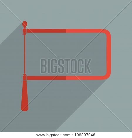 Flat icons modern design with shadow of coping saw