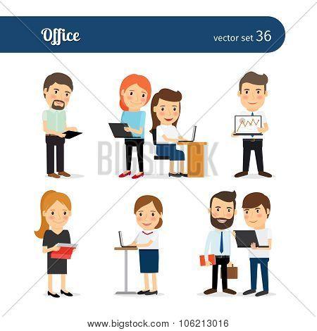 Office people set