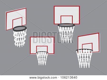 Baskets For Basketball Sport Vector Illustration