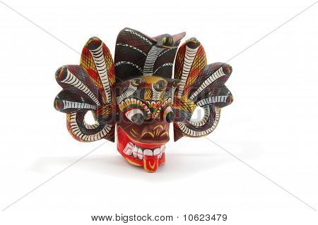 Traditional Mask Of The Devil With Snakes Called Naga Raksha, From Sri Lanka