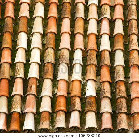 Old Moroccan  Tile Roof In The Old City