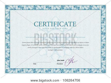 Vintage Certificate. Template Diplomas, Currency.