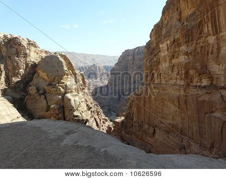 The Tresury From The Siq, Petra, Jordan