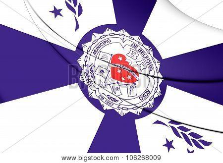 Flag Of Belford Roxo (rio De Janeiro State), Brazil.