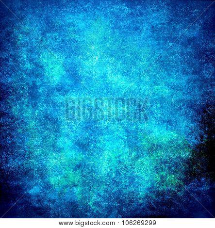 Abstract Blue Background Of Elegant Dark Blue Vintage Grunge Background Texture Black On Border With