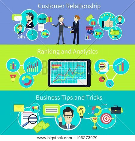 Business Customer Relationship. Tips and Trips