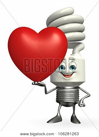 Cfl Character With Red Heart