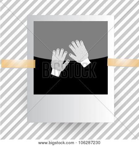 gauntlets. Photoframe. Vector icon.