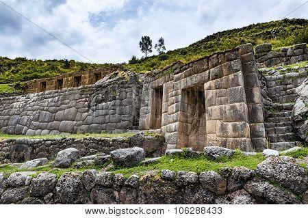 Tambomachay ruins near Cuzco Peru