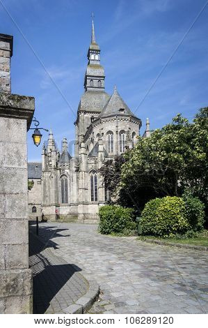 Church In The City Of Dinan, Brittany, France