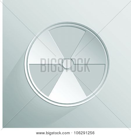 Sign of radioactive white