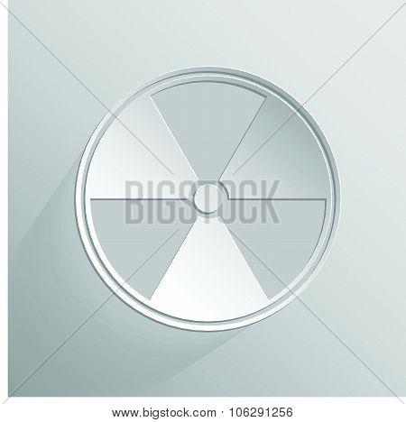 Sign of radioactive white